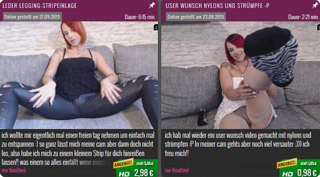 Sexvideos von Nina Devil